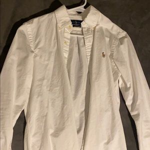 Men's small white button down Ralph Lauren polo